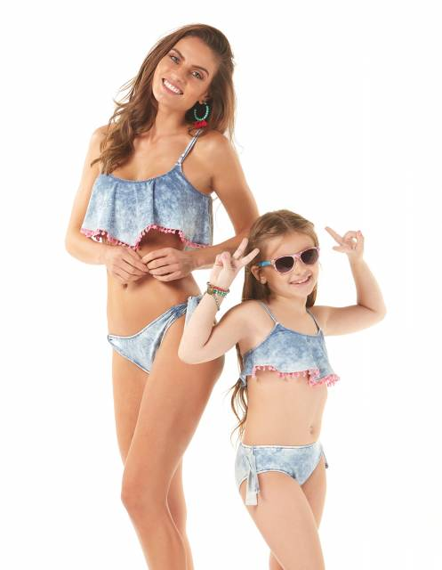 Tendência na moda praia infantil: tal mãe tal filha