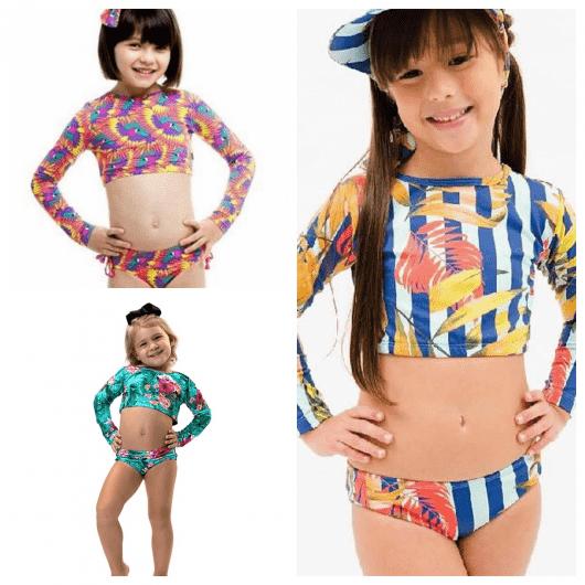 Os modelos cropped estampados são os preferidos das garotas