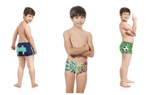 Os meninos vão se divertir bastante na água com sungas confortáveis