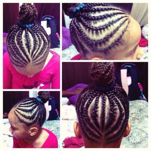 Deixe a menininha bem estilosa com tranças afro