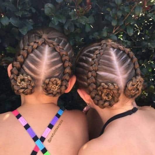 Dica de penteado infantil bem diferente com trança