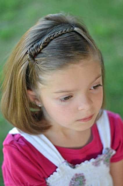 Trança simples para meninas de cabelos curtos