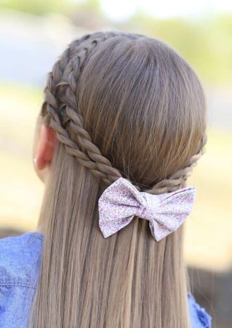 Penteado infantil com trança super fácil de fazer