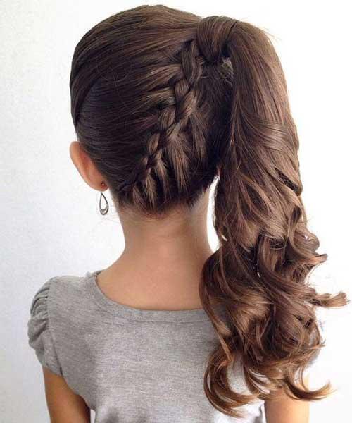 Ideia ótima para prender os cabelos das meninas