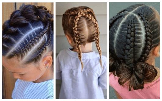 penteado infantil com trança