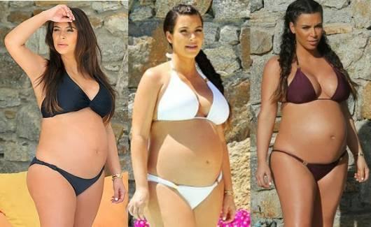 Looks de Kim Kardashian quando estava grávida