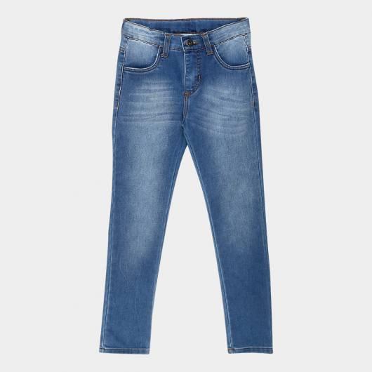 Calça jeans infantil masculina simples - Zattini
