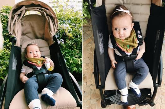 carrinho de bebê masculino azul simples