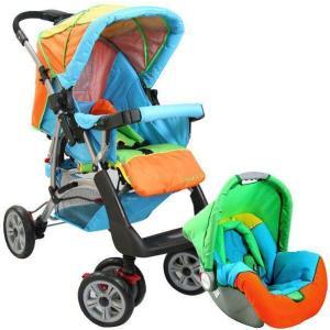 carrinho de bebê masculino colorido