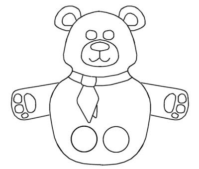 Molde para dedoche de urso
