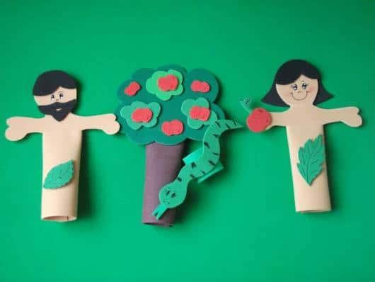 Dedoches de EVA Adão e Eva