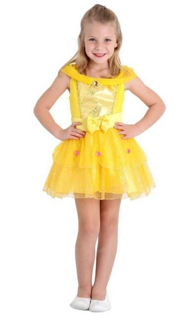 Vestido amarelo ovo da Bela curto