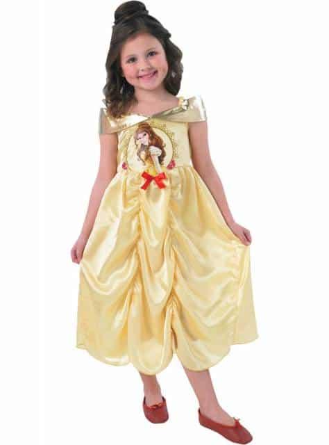 Vestido amarelo com estampa da Bela