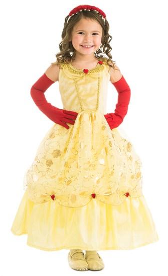 Vestido amarelo da Bela com mangas vermelhas é uma opção de fantasia