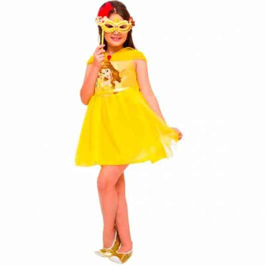 Fantasia da Bela infantil para usar no Carnaval