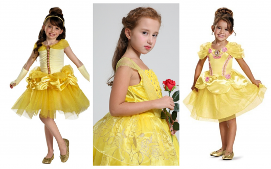 11dbe82ef7 Fantasia da Bela Infantil – 60 Modelos Perfeitos da Princesa da Disney!