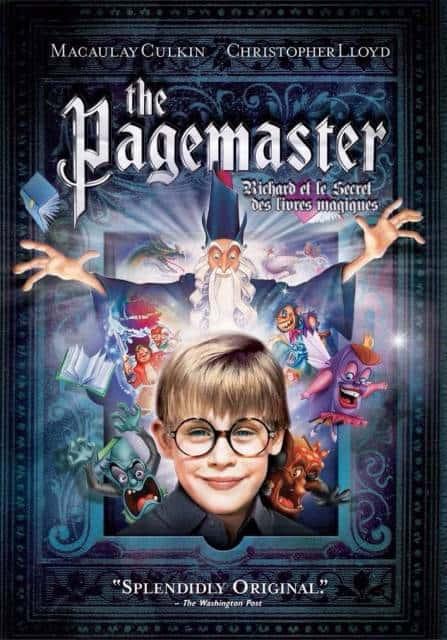 filmes de magia Pagemaster - O Mestre da Fantasia