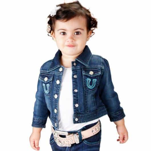 Jaqueta Jeans baby bem fofa para look country