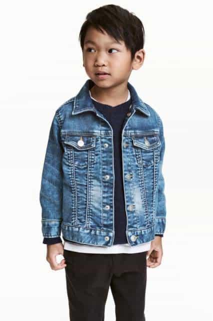 Jaqueta jeans simples para meninos