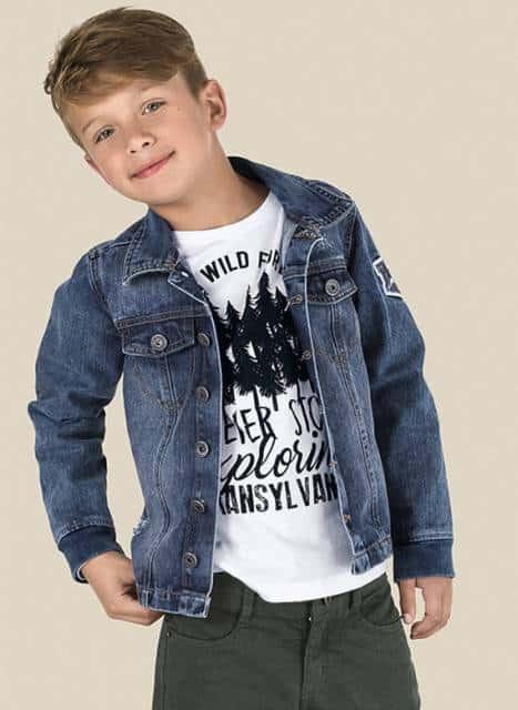 Jaqueta infantil masculina simples