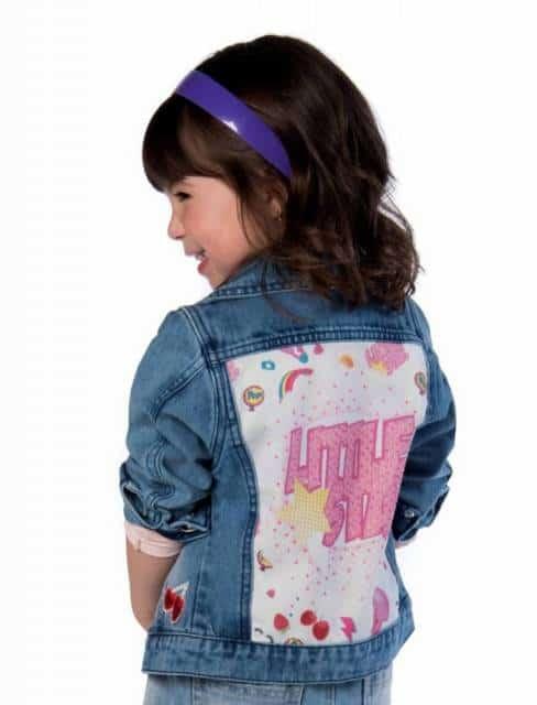 Jaqueta jeans customizada infantil