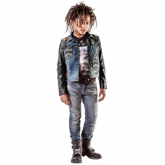Jaqueta jeans estilosa para meninos