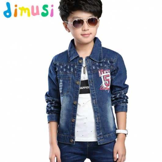 Jaqueta infantil masculina com detalhes