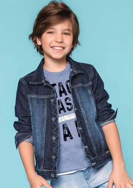 Dica de jaqueta jeans simples para meninos