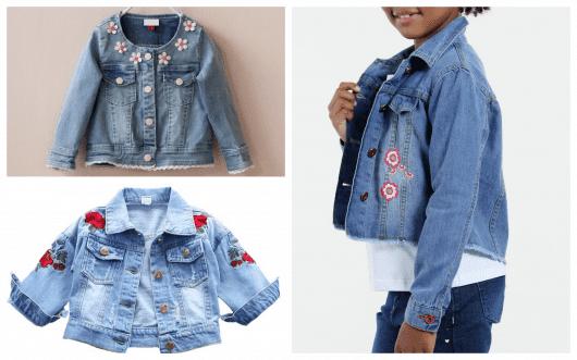 jaquetas femininas infantis com bordados fazem muito sucesso