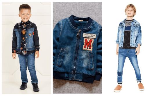 Atualmente há jaquetas masculinas infantis simples e com detalhes