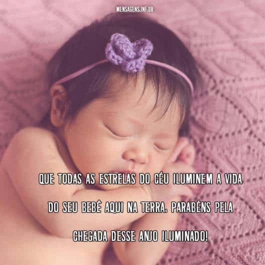 Mensagem simples para celebrar a chegada do bebê