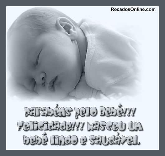 bebes recem nascidos mensagens