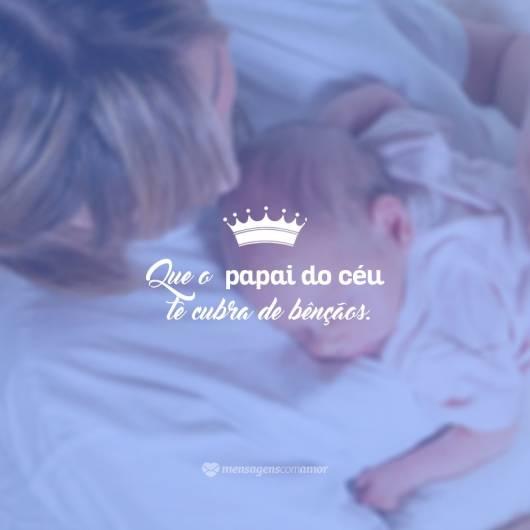Dica de mensagem com imagem simples para bebês recém-nascidos