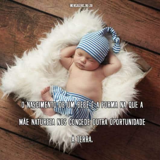 Mensagem filosófica para bebês recém-nascidos