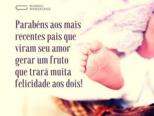 Mensagem para você enviar aos pais e parabenizá-los pelo nascimento do bebê