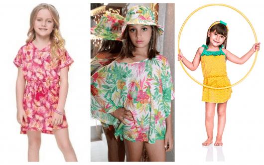 Os modelos de saída de praia infantil estampados são os mais procurados