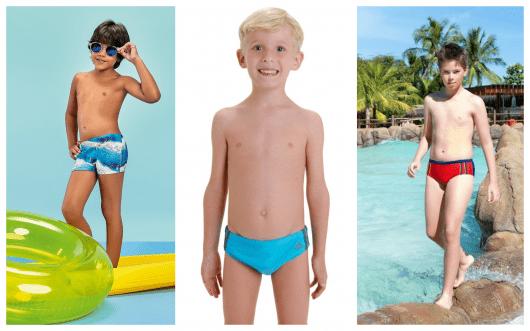 Conheça com a gente as principais tendências em sungas infantis