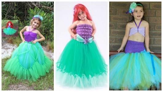 Montagem com três tipos de fantasia Ariel.