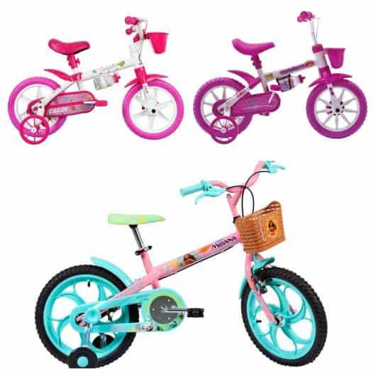 A cestinha faz toda a diferença nas bikes das meninas