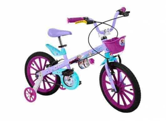 Modelo de bicicleta colorido para meninas