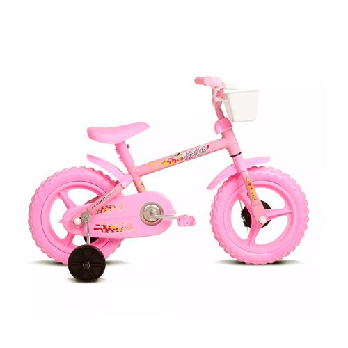 A bicicleta rosa bebê chama a atenção das garotas