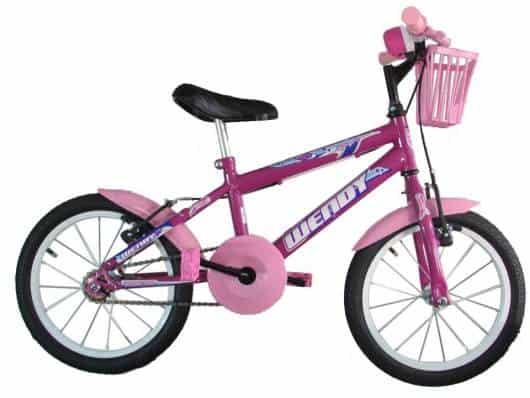 Dica de bicicleta roxa para meninas