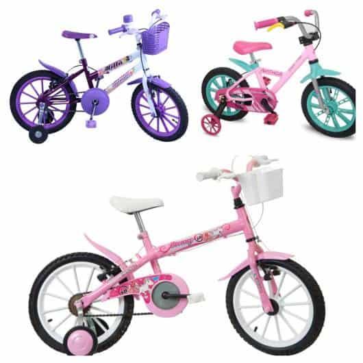 As cores das bikes podem variar bastante