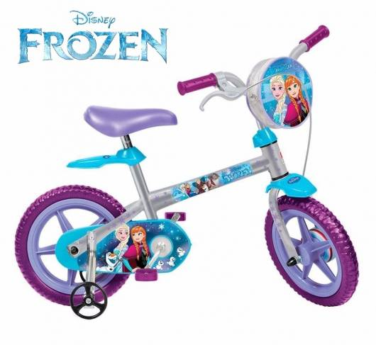 Modelo de bicicleta infantil feminina inspirada na Frozen