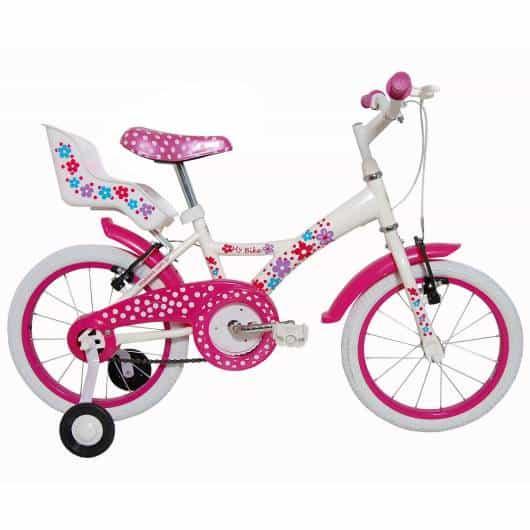 Bicicleta feminina com cadeirinha para carregar bonecas