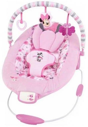 Cadeirinha de descanso rosa com estampa da Minnie