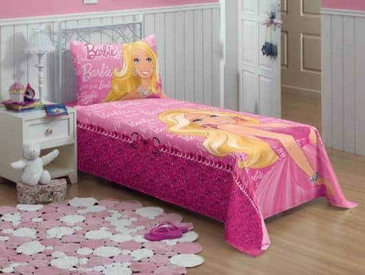 roupa de cama Barbie