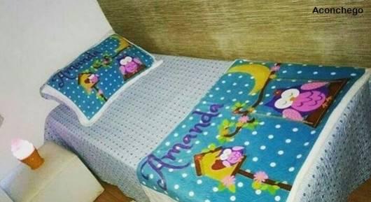 cobertor corujinha