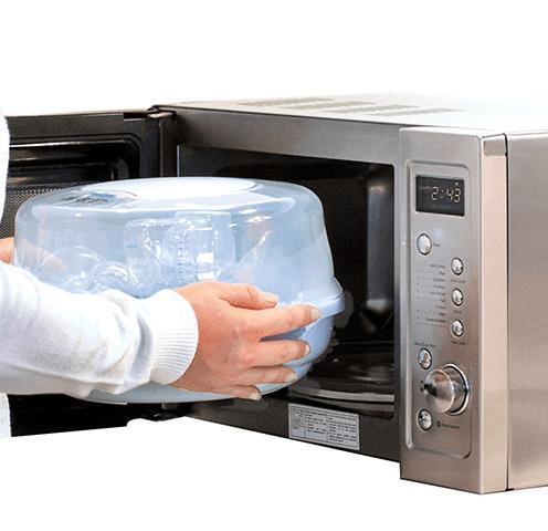 Você também pode usar o microondas para fazer a esterilização