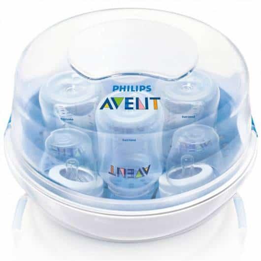 A esterilização pode ser feita em panela, microondas ou em aparelho elétrico
